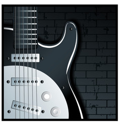 electronic guitar vector image