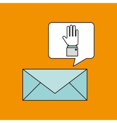 email with icon design vector image