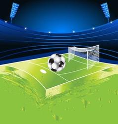 football sport stadium vector image vector image