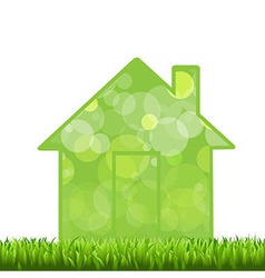Grass And House vector image vector image