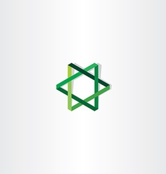 Green star logo sign vector