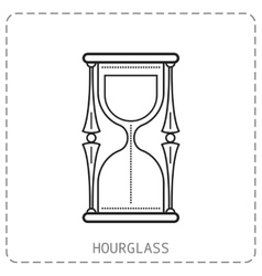 Hourglass Flat linear icon isolated on white vector image vector image