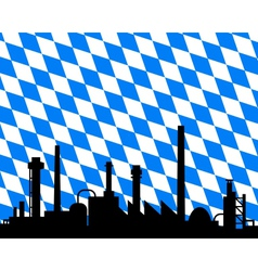 industry and flag of bavaria vector image vector image