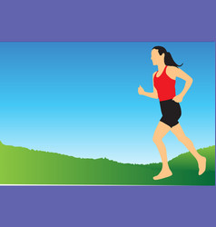 Jogging in the morning vector