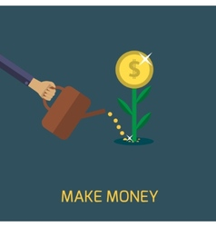 Make money vector image vector image