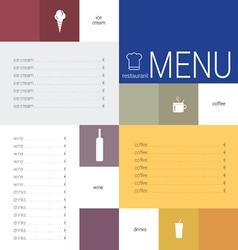 menu color vector image vector image
