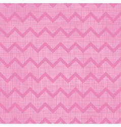 Pink fabric textured chevron stripes seamless vector image
