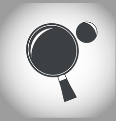 Racket and ball ping pong black and white vector