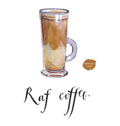 raf coffee vector image