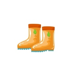 Rubber Boots As Autumn Attribute vector image