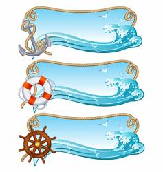 sailing banner vector image vector image
