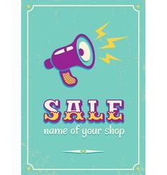 Sale megaphone retro vector image