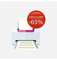 Sale of Household Appliances Printer vector image vector image