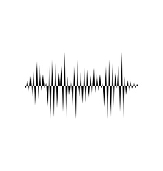 Sound or audio wave vector image vector image