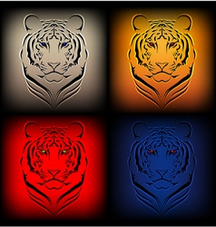 tiger graphics vector image vector image