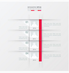 timeline report design template pink gradient vector image