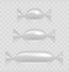 transparent foil pack for candy vector image vector image
