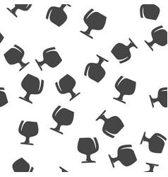 Wineglass seamless pattern vector