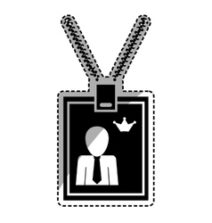 Identification card with necklace vector
