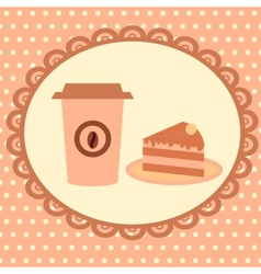 background with cakeand coffee vector image