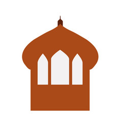 castle tower isolated icon vector image