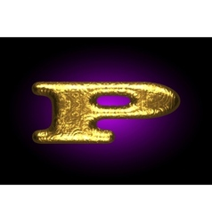 Golden letter p vector