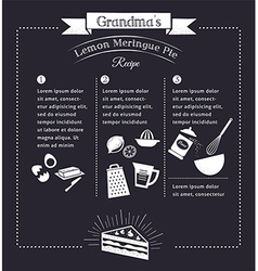 Chalkboard meal recipe template design vector