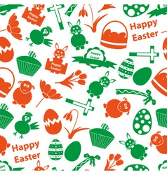 Various easter icons seamless color pattern eps10 vector