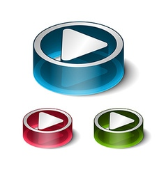 3d play play icon vector image