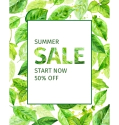 Summer leaves spring sale vector