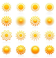 Sun vector logo template set vector