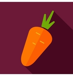 Carrot flat icon with long shadow vector