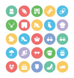 Fashion colored icons 2 vector