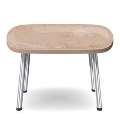 Modern table stone vector