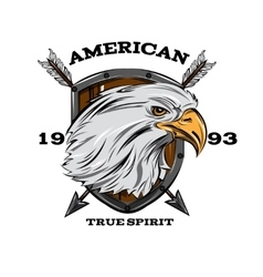 American true spirit emblem vector