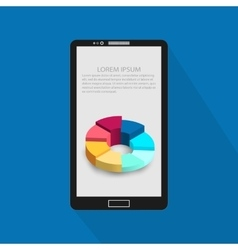 Background of modern mobile phone with infographic vector
