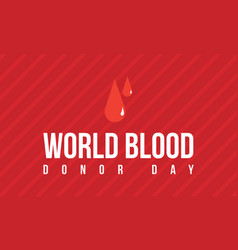 Background world blood donor day vector