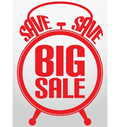 Big sale alarm clock vector
