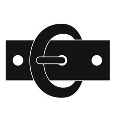 Buckle belt icon simple style vector