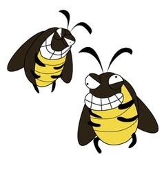 Cockroach mad cartoon vector