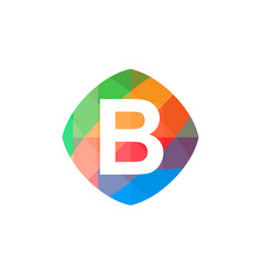 colorful initial b icon vector image vector image