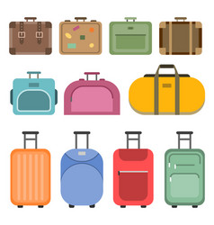 different handle bags and travel suitcases vector image vector image