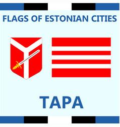 Flag of estonian city tapa vector