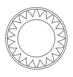 isolated big sun symbol vector image