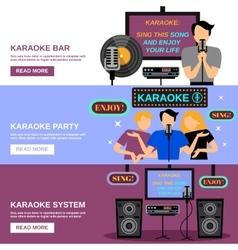 Karaoke Banner Set vector image vector image
