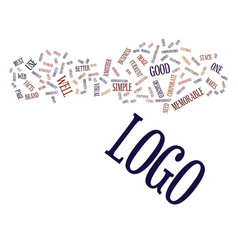 logo facts text background word cloud concept vector image vector image