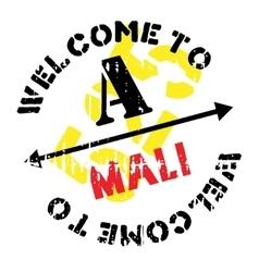 Mali stamp rubber grunge vector