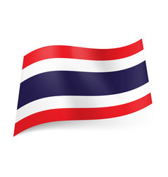 national flag of thailand wide blue stripe vector image