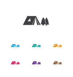 Of camping symbol on travel vector