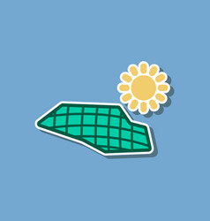 Paper sticker on stylish background of solar vector